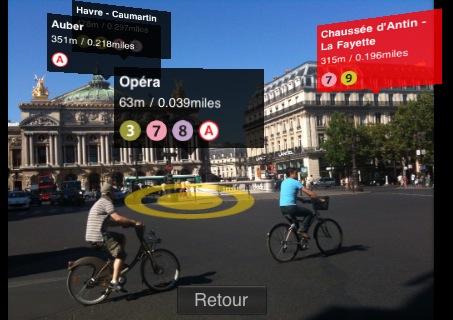 Дополненная реальность в Париже