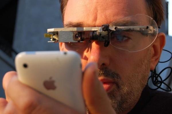 Очки Digital Eye Glass Стивена Манна от 1999 года, фото сделано 13 июля 2009 г.