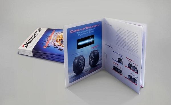 Буклет дополненной реальности Bridgestone от PlayDisplay
